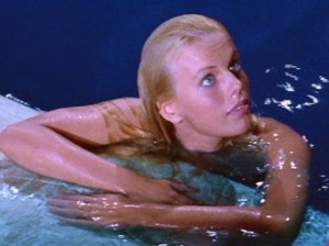 "Marta Kristen as the Mermaid in ""Beach Blanket Bingo."""