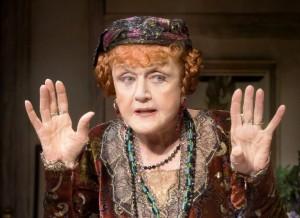 "Angela Lansbury as Madame Arcati in Noël Coward's comic play ""Blithe Spirit"""