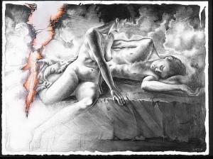 """""""Lilith Leaving Adam"""" by Lilian Broca"""